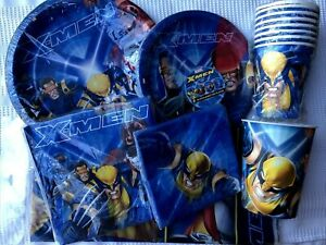 Xmen Wolverine Party Supplies Plates, Napkins, Cups, Tablecover