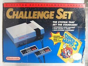 Nintendo Entertainment System NES Mario Challenge Set Authentic Console BOX ONLY