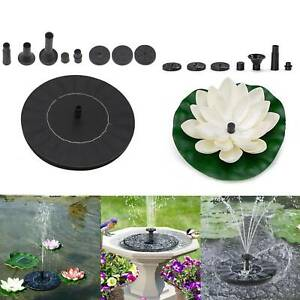 Solar Power Floating Bird Bath Water Fountain Pump 2W Patio Pond Water Fountain