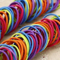 100Pcs Girl Kids Elastic Rope Hair Ties Ponytail Holder Head Band Hairbands New