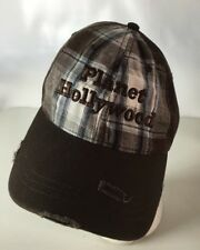 Planet Hollywood Orlando Hat Cap Holiday Resort Spellout Plaid Distressed Look
