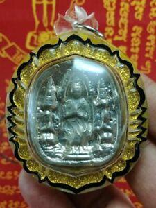 LEKLAI SILVER LP SOMPORN BLESSED YOD KHUN PON REAL SYMBOL OF VICTORY THAI AMULET