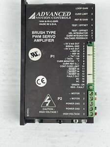 Advanced Motion Controls Brush Type PWM Servo Amplifier 25A8K