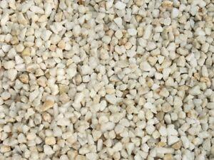 10 kg Quarz Splitt Zierkies Weiss 8/12 mm