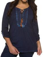 Shirt Longshirt Bluse Tunika navy Ulla Popken 42 44 46 48 50 52 54 56 58 60 Neu