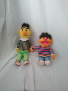 "14""cute soft bert and 10"" cute soft erine from sesame street gund plush dolls"