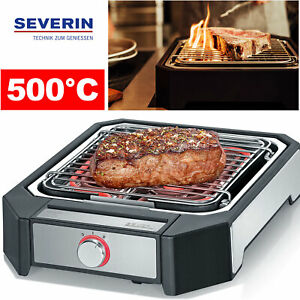 Severin Elektro Hochtemperaturgrill Beef Steak Grill Steakboard Edelstahl 500°C