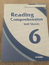 A Beka Books Reading Comprehension Skill Sheets 6 6th Grade
