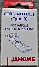 Janome Cording Foot Type A - Overlocker Serger My Lock Piping NEW Elna Lumina