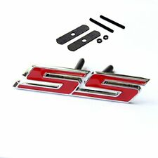 3D Metal Red Car Front Grille Badge SS Emblem W/ Mount For Chevrolet Accessories