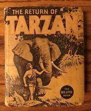 The Return of Tarzan, Big Little Book # 1102, 1936 Good+ to VG-