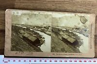 RIVER OF DEATH JOHNSTOWN PA CONEMAUGH VALLEY DISASTER Antique KILBURN Stereoview