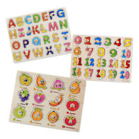 Kids Numbers Letters Digital Puzzle Educational Play Toy Jigsaw Grasping Board
