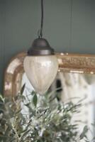 Jeanne d´Arc living Vintage Hängelampe Hängeleuchte Leuchter Milchglas Lampe