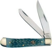 Frost Trapper Warrior Pocket Knife Stainless Steel Blade Gray Pick Bone Handle