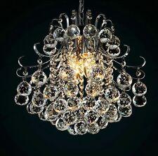 Genuine K9 Crystal Chandelier Ball Drop Ceiling Light Pendant/Flush 3/4/6 Bulbs