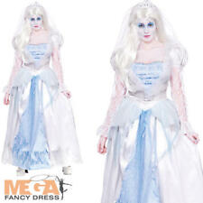 Gorgeous Ghost Bride Ladies Fancy Dress Halloween Womens Adults Costume Outfit