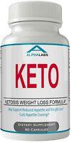 Alpha Labs Keto Weight Loss Diet Pills Advanced Energy Ketones Supplement Cap...