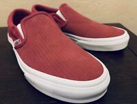 Vans Classic Slip-On Embossed Suede Skate Shoes Women's Size 6.5 Dry Rose