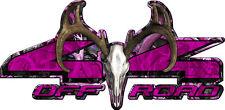 4x4 obliteration buck skull pink camouflage truck decal sticker set