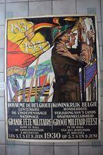 Rare et remarquable affiche du centenaire de l'indépendance nationale 1830-1930