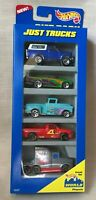 "Hot Wheels Mattel ""Just Trucks"" 1996 Gift Pack 5 Trucks NRFB Very Good"