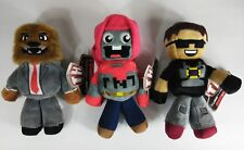 NEW: Lot of 3 Tube Hero Plush Toys: JEROMEASF, TNT, SKY (8 - 9 inches tall)