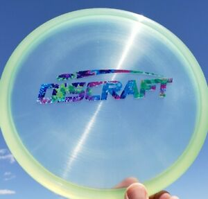 New Discraft Z FLX ZONE 174g Clear Light Green Party Time Barstamp