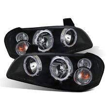 CG For Nissan Maxima 2002-2003 Sedan Black Headlights LED Halo