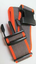Adjustable Travel Suitcase Baggage Luggage Strap Belt Orange & Brown