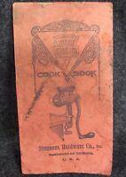 Antique KEEN KUTTER Cook Book Food Chopper meat grinder (AB357)