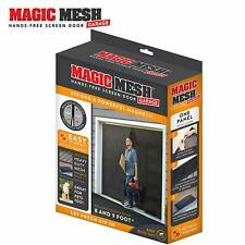 Magic Mesh Garage- Hands Free Magnetic Screen Door, Fits Single Garage Doors