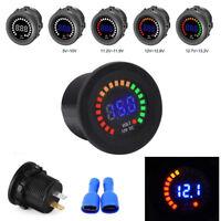 DC 12V Universal Car Motorcycle Blue LED Digital Display Voltmeter Voltage Meter