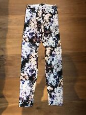 THEYSKENS THEORY White Multicoloured Patterned Leggings XS P Petite Small