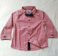 Next Brand 9-12m Baby Boy Christmas Dress Shirt Bowtie Santa Geometric Button