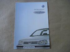 2000 VW GOLF CABRIOLET MAYFLOWER Catalogue Brochure Prospekt Dépliant French