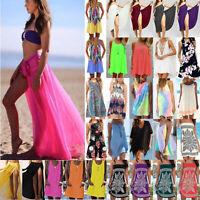 Women Holiday Beach Bikini Cover Up Boho Long Top  Mini Dress Sundress Swimwear