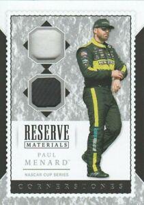 Paul Menard 2020 Chronicles Cornerstones Reserve Material Card #RM-PM MINT
