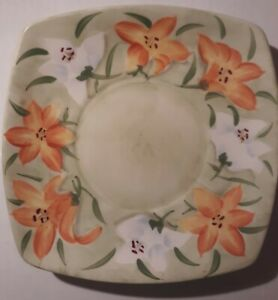 Yankee Candle Plate Orange Tiger Lily Flowers