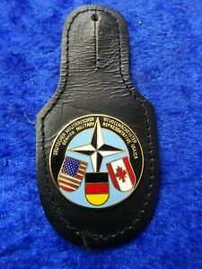 A55-5) Brustanhänger Bundeswehr Deutscher militärischer Bevollmächtigter US/CAN