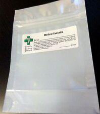50 SMELL PROOF BAGS (w/ Green Cross LABELS) Marijuana Cannabis MYLAR 3.1x5
