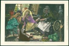 1878 Antiguo Fine Art Print-Charles Gregory Folk-Lore Real Academia (117)