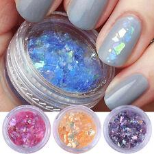 12Colors/Set 3D Nail Art Iced Mylar Glitter Powder Acrylic UV Gel Tips Decor