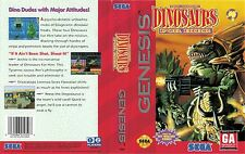 Dinosaurs For Hire Sega Genesis NTSC Replacement Box Art Case Insert Cover Scan