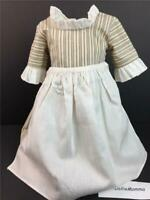American Girl Felicity Work Outfit~Dress/Gown~Apron~Pleasant Company tag 2 piece