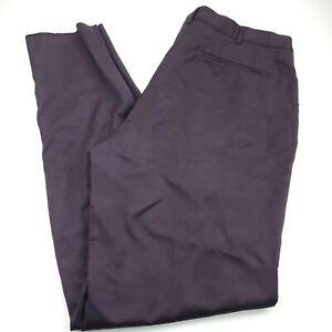 Ermenegildo Zegna City Dress Suit Pants Mens Size 38 X Unhemmed Purple Wool