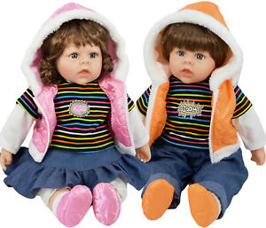 """20"""" Large Toddler Baby Doll Lifelike Realistic Soft Bodied Girl / Boy Twin Dolls"""