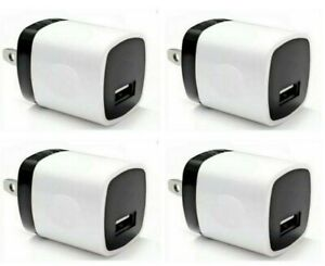 4x 1A USB Adapter AC Home Wall Charger US Plug FOR Cell Phone universal