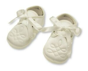 Baby Boys Christening Shoes - Cream - Sizes 0-6, 6-12, 12-18 Months