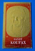 1965 TOPPS EMBOSSED SANDY KOUFAX BASEBALL CARD #8 ~ VG+